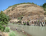 Klickitat Swimming - In River - Jumping from Rocks