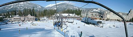 Sunday - Blackcomb Base As Seen From Chair Lift - Panorama
