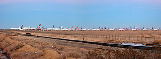 Mojave - Airplane Parking Lot - Panorama
