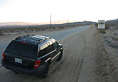 Driving To Trona Pinnacles - China Lake Base - Military Road Keep Out