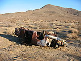 Driving To Trona Pinnacles - Dead Car