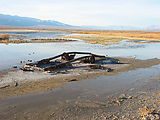 Panamint Valley - Car Parts Rusting - In Water