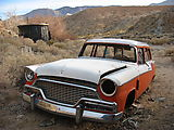 0943 Darwin Canyon - Mining Buildings - Old Orange White Car