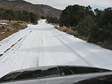 Saline Valley Road - Snow