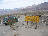 Death Valley - Ubehebe Road - Lippincott Road - Caution Sign