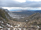 Deer Canyon - Cowles Ranch Summit - Snow - Looking West