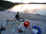 Portland Island - Laura - Cooking - On Beach