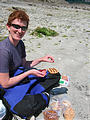 Lunch Stop - Pylades Island - Laura's Special Peanut Butter, Jelly, and Pretzel Sandwich