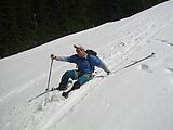 Glissading - Pat (Photo by Leo)