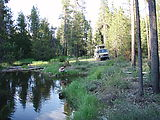 Deschutes National Forest - Camping South of - Davis Lake - Laura - Sportsmobile - Pond