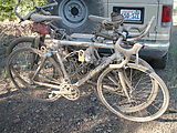Camping in Deschutes National Forest - NFD 600 - Sportsmobile - Bike Rack - Dirty