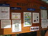 Merritt Lake Trail Hike - Sign