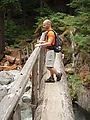 Deception Creek Trail Hike - Bridge - Geoff (Photo by Laura)