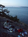 Kayaking Lummi Island - DNR Campsite - Dinner - Laura