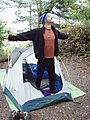 Kayaking Lummi Island - DNR Campsite - Geoff - In the Morning - Tent