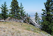 Colockum Pass - Harriets Peak Lookout Tower - Ruins