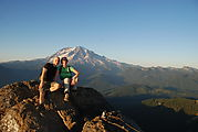High Rock Lookout Hike - Laura - Mt. Rainier - Geoff, Laura