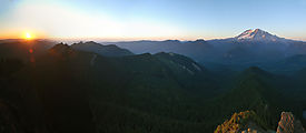 High Rock Lookout Hike - Sunset - Mt. Rainier