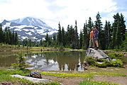 Spray Park Trail - Mt. Rainier - Geoff - Laura