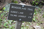 Tolmie Lookout Trail - Sign
