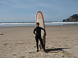 Oregon Surfing - Beach - Laura - Surfboard