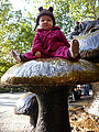 Central Park - Alice in Wonderland Statue - Lyra - Mushroom
