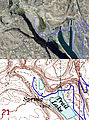 Floodand Camping - Map & Satellite Image Close-Up
