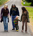 Walking to Beach - Corrie - Mason - Winslow - Carrie