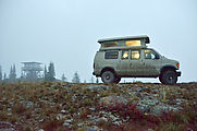 Salmo Mountain - Fire Lookout Tower - Sportsmobile - Fog