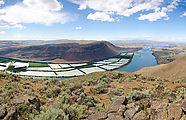Saddle Mountains (West) - View from Birkett - Saddle Bluffs - Columbia River - Sentinel Gap