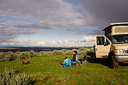 Campsite - Hill North of Duffy Creek - Lyra - Laura - Sportsmobile