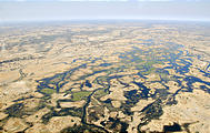 Botswana - Flight to Moremi - View from the air
