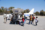Botswana - Arrival in Moremi - Airplane