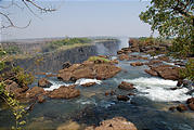 Zambia - Victoria Falls - Above the falls