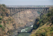 Zambia - Victoria Falls Bridge (to Zimbabwe)