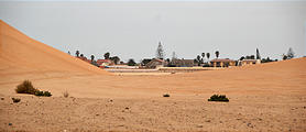Namibia - Swakopmund - Tommy's Tour - Town, as seen from the dunes