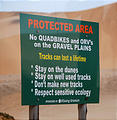 Namibia - Swakopmund - Tommy's Tour - Dunes - Sign, stay on the dunes