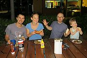 Townsville - BBQ - Joel - Liz - Geoff - Lyra - Silly Faces (Photo by Liz)