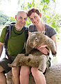 Townsville - Billabong Sanctuary - Wombat - Geoff - Laura
