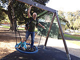 Melbourne - Middle Park - Swing - Lyra - Geoff (Photo by Laura)