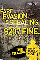 Melbourne - Tram - Poster - Fare Evasion is Stealing