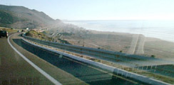 Driving to Ensenada - View of Coast from Road