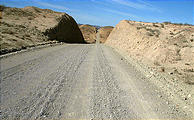Road West from Vizcaino - Nasty Washboard Gravel Road (1/2/2002 12:19 PM)