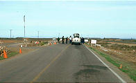 Driving North - Military Checkpoint (1/5/2002 11:15 AM)