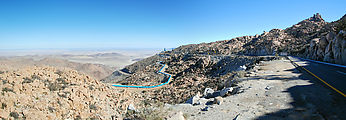 La Rumorosa - Curvy Switchbacks - Pipeline Construction