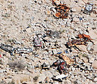 La Rumorosa - Curvy Switchbacks - Wrecked cars fallen from road (more close-up)
