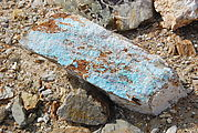 Turquoise Mine Site - Green Rocks