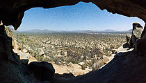Mesa el Carmen - Cave - Looking Out