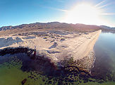 Playa Morro Blanco - Bahía San Rafael - Beach - Sportsmobile - Looking Southwest (aerial photo)