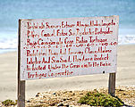 Bahía Clambey - Beach - Sign: No Fishing for Clams, Abalone, Lobster, and Sea Snail